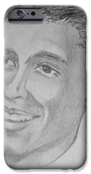 President Obama Drawings iPhone Cases - Obama iPhone Case by Zoe Vigil