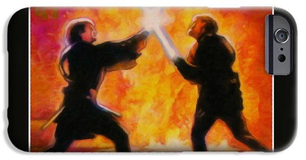Recently Sold -  - Nation iPhone Cases - Obi Wan Kenobi and Anakin Skywalker iPhone Case by Lanjee Chee