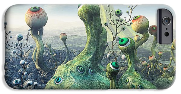 Strange iPhone Cases - Observation iPhone Case by Jutta Maria Pusl