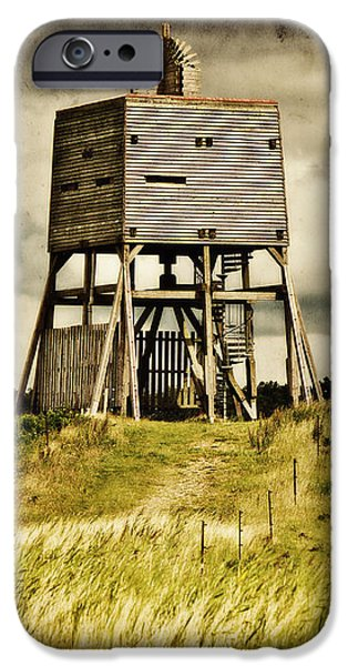 Wadden Sea iPhone Cases - Observation tower iPhone Case by Angela Doelling AD DESIGN Photo and PhotoArt