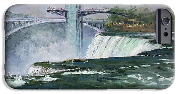 Observation iPhone Cases - Observation Tower in Niagara Falls iPhone Case by Ylli Haruni