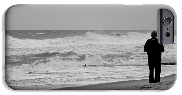 Bay Head Beach iPhone Cases - Observing - Jersey Shore iPhone Case by Angie Tirado