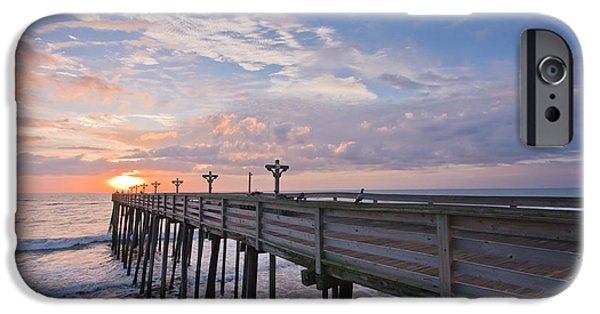 Seascape iPhone Cases - OBX Sunrise iPhone Case by Adam Romanowicz