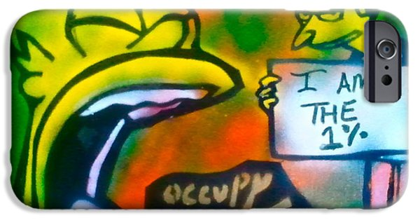 Occupy Paintings iPhone Cases - Occupy Springfield iPhone Case by Tony B Conscious