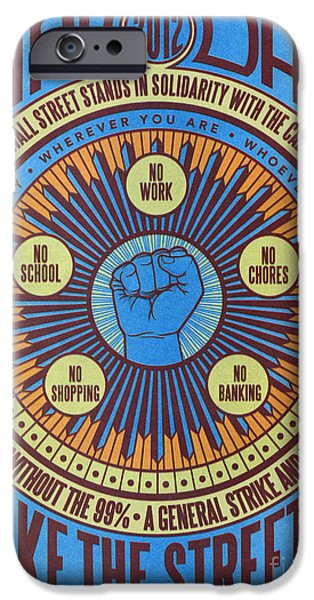 Occupy iPhone Cases - Occupy Wall Street, 2012 iPhone Case by Granger