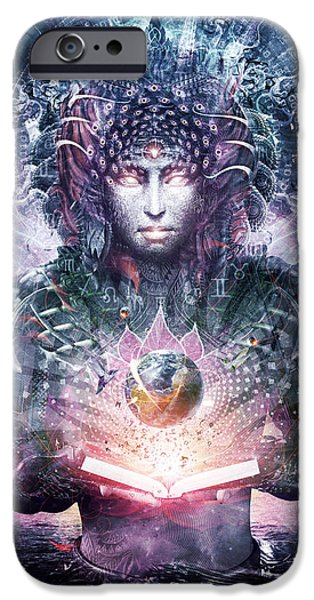 Atlantis iPhone Cases - Ocean Atlas iPhone Case by Cameron Gray