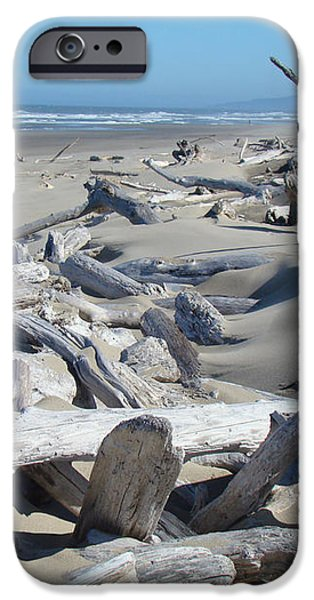 Ocean Coastal art prints Driftwood Beach iPhone Case by Baslee Troutman