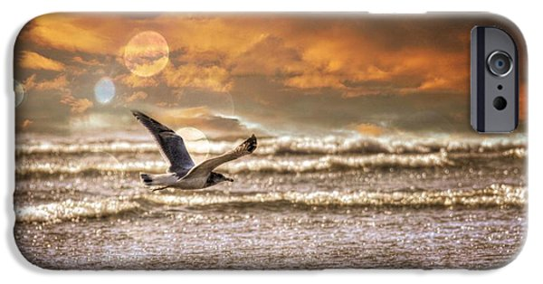 Flying Seagull iPhone Cases - Ocean Flight iPhone Case by Aaron Berg