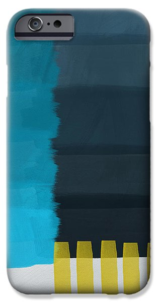 Vibrant Mixed Media iPhone Cases - Ocean Front Walk- Art by Linda Woods iPhone Case by Linda Woods