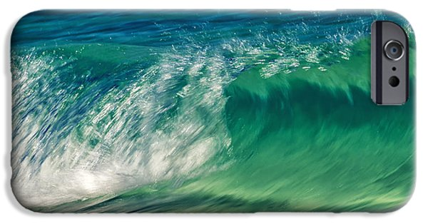 Abstract Seascape Photographs iPhone Cases - Ocean Ripples iPhone Case by Stylianos Kleanthous