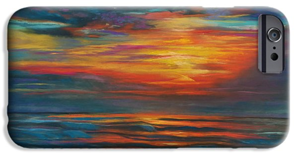 Chatham iPhone Cases - Ocean Sunrise iPhone Case by Karen Kennedy Chatham