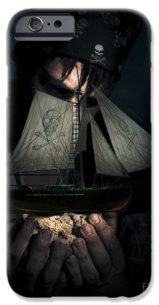 Pirate Ship iPhone Cases - Ocean Treasure iPhone Case by Ryan Jorgensen