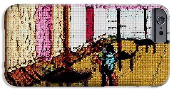 Tetris Block iPhone Cases - Ocean View iPhone Case by Jacquin
