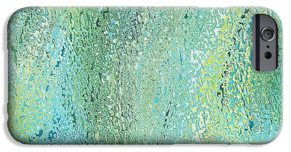 Abstract Digital Tapestries - Textiles iPhone Cases - Oceania Seagreen iPhone Case by FabricWorks Studio