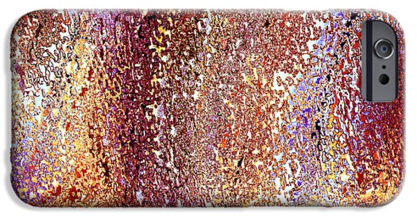 Abstract Digital Tapestries - Textiles iPhone Cases - Oceania Umber iPhone Case by FabricWorks Studio