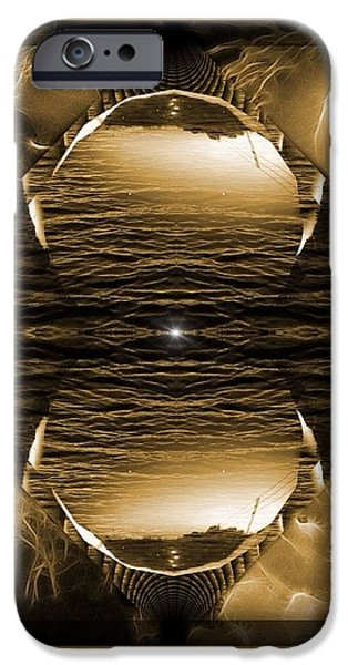 Abstract Digital iPhone Cases - Oceanic Depth iPhone Case by Majula Warmoth