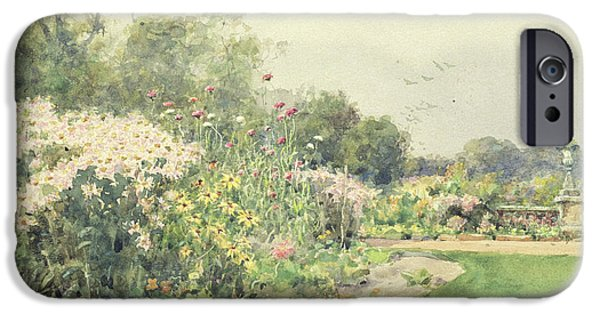 Garden Scene iPhone Cases - October Flowers iPhone Case by Wilfred Williams Ball