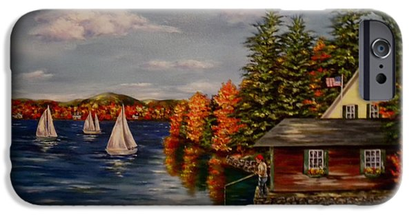 Boat iPhone Cases - October in New England iPhone Case by Jan Law