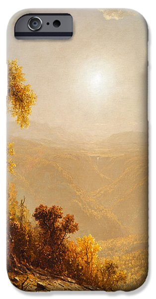 Destiny iPhone Cases - October in the Catskills iPhone Case by Sanford Robinson Gifford