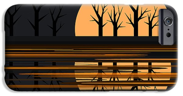 Fall iPhone Cases - October Pond iPhone Case by Val Arie