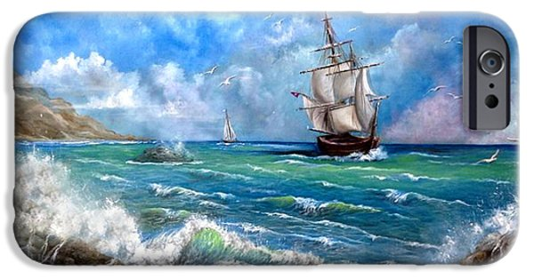 Pirate Ship iPhone Cases - Odessa iPhone Case by Patrice Torrillo