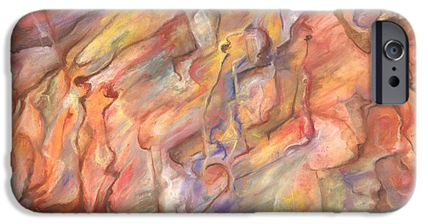Abstract Expressionist iPhone Cases - Of Ancient Days iPhone Case by Tom Kecskemeti