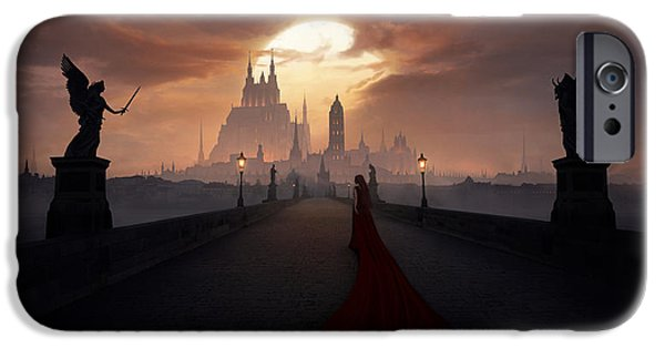 Night Angel iPhone Cases - Of Angels and Demons iPhone Case by Tobias Roetsch