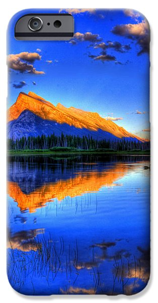 Vistas iPhone Cases - Of Geese and Gods iPhone Case by Scott Mahon