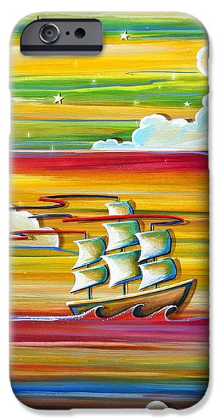 Pirate Ship iPhone Cases - Off To Neverland iPhone Case by Cindy Thornton