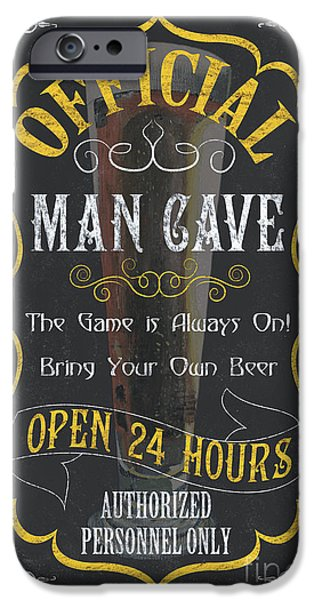 Pitcher iPhone Cases - Official Man Cave iPhone Case by Debbie DeWitt