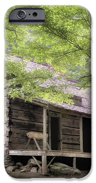 Ogle Homestead - Smoky Mountain rustic cabin iPhone Case by Thomas Schoeller