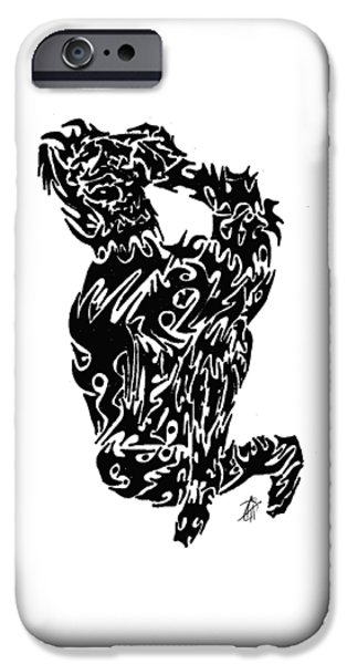 Abstract Digital Drawings iPhone Cases - Oh Joy iPhone Case by AR Teeter