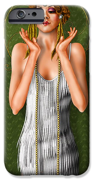 Figure iPhone Cases - Oh Those Fabulous Flappers iPhone Case by Troy Brown
