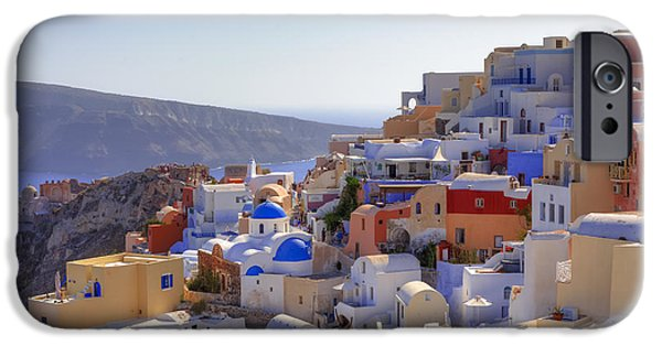 Panoramic iPhone Cases - Oia - Santorini iPhone Case by Joana Kruse