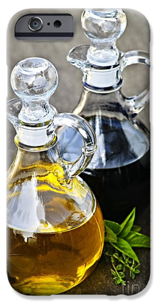 Handle iPhone Cases - Oil and vinegar iPhone Case by Elena Elisseeva