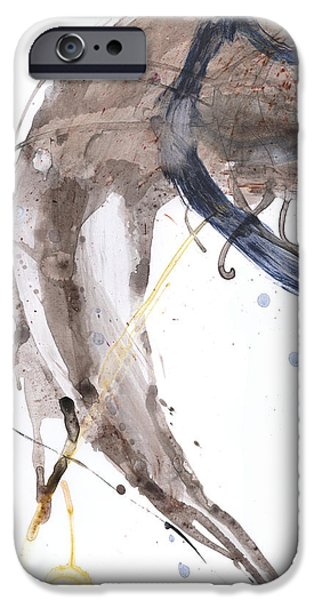 Abstract Expressionism iPhone Cases - Oil and Water #40 iPhone Case by Justin Crabtree