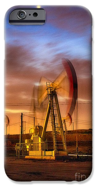 Recently Sold -  - Business iPhone Cases - Oil Rig 1 iPhone Case by Anthony Bonafede