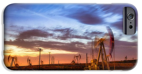 Recently Sold -  - Business Photographs iPhone Cases - Oil Rigs 3 iPhone Case by Anthony Bonafede