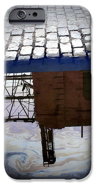 Oil Slick iPhone Cases - Oil Slick Factory iPhone Case by Dave Beckerman