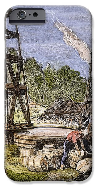 19th Century iPhone Cases - Oil Well, 19th Century iPhone Case by Granger