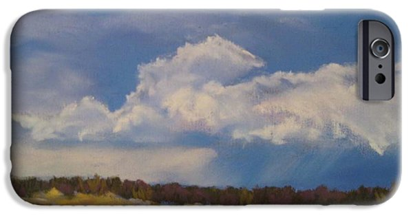 Winter Storm Pastels iPhone Cases - Ojo Clouds iPhone Case by Constance Gehring