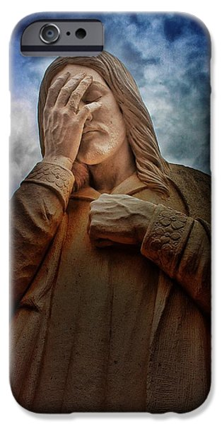 Statue Portrait iPhone Cases - Oklahoma  Bombing Memorial Statue iPhone Case by Buck Buchanan
