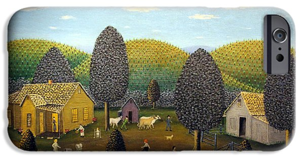 Painter Photographs iPhone Cases - OKelleys Farm Scene iPhone Case by Cora Wandel