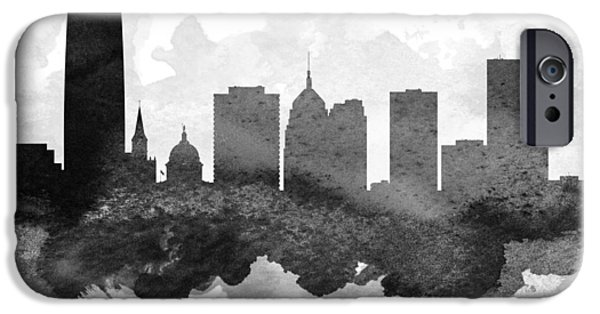 Oklahoma iPhone Cases - Oklahoma City Cityscape 11 iPhone Case by Aged Pixel
