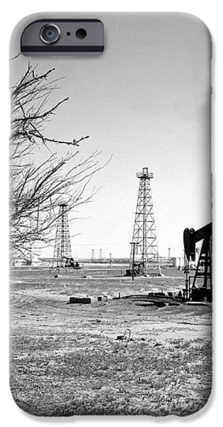 Oklahoma Oil Field iPhone Case by Larry Keahey