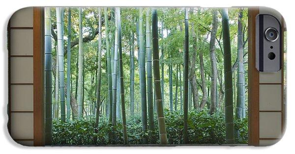 Man Made Space iPhone Cases - Okochi Sanso Villa Bamboo Garden iPhone Case by Rob Tilley