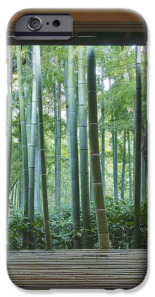 Okochi Sanso Villa Bamboo Garden iPhone Case by Rob Tilley
