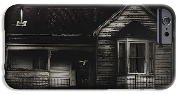 Haunted House iPhone Cases - Old abandoned haunted house of horrors iPhone Case by Ryan Jorgensen