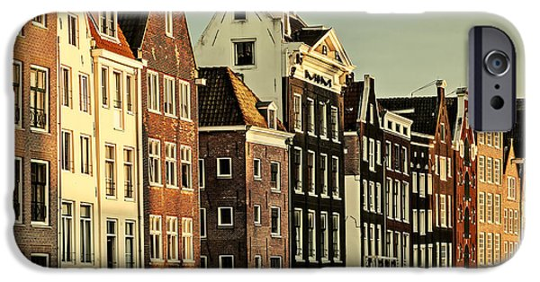 Facade iPhone Cases - Old Amsterdam iPhone Case by Martin Bergsma