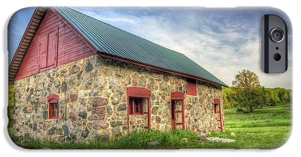 Barn iPhone Cases - Old Barn at Dusk iPhone Case by Scott Norris